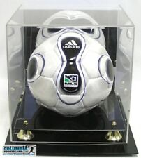 DELUXE UV PROTECTED SOCCER BALL DISPLAY CASE W/ MIRROR