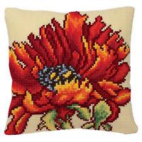 1x Cross Stitch Kit Starter Poppy Vase Sewing Craft Tool Hobby Art UK