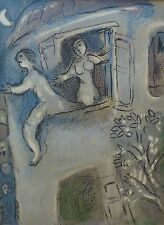 "MARC CHAGALL BIBLE ""Michael saving David"" HAND NUMBERED LITHOGRAPH M250"
