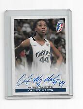 Autographed Chasity Melvin 2007 WNBA Rittenhouse Signature Card Mystics