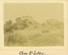 France, Chapelle Saint-Estève, ca.1908, Vintage citrate print  Vintage citrate p