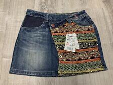 4819ad1ddb NEW Desigual Denim Mini Skirt Size 36 EU 2 US Women's Rare Design