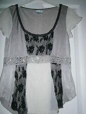 Ladies Evening embelished top by Next size 6 Black & Beige