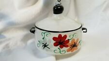 Italian Glass Ornament Frying Pan Pot Painted Stenciled