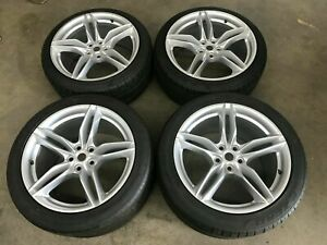 FERRARI 812 SUPERFAST FRONT AND REAR WHEEL RIM SET WITH TIRES OEM 324158 324159