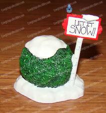 Let it Snow Sign (Dept. 56 Village Accessories, 4047551) Bush, Bluejay