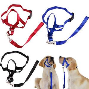 Dog Muzzle Collar Stops Supply Training Adjustable Pet Straps Head Halti Style