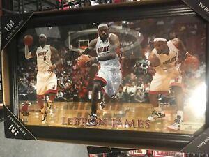 Lebron James Miami Heat Framed W/Glass 12x20 Serial#113/2012 Limited