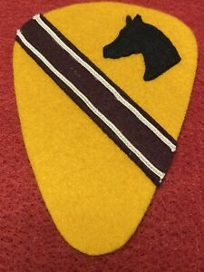 WWII US Army 1st Cavalry Divison Medical Felt Patch
