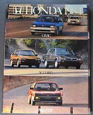 1984 Honda Catalog Brochure Accord Civic Prelude Excellent Original 84