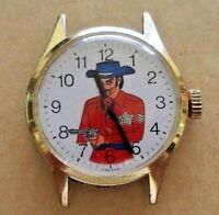 Vintage wind-up Cowboy Western Sheriff Character Watch