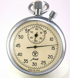 Vintage stopwatch AGAT mechanical two buttons made in USSR Soviet Russian