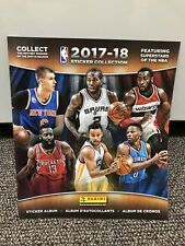 2017-18 Panini NBA STICKER COLLECTION SEALED -ALBUM INCLUDED 10 STICKERS.