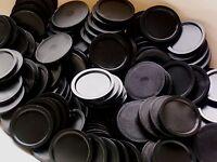 1000 Einkaufswagenchips Pfandmarken in schwarz EKW-MG
