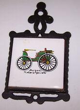 Vintage Trivet 1895 DURYEA'S MOTOR WAGON Automobile Auto Cast Iron Ceramic Tile