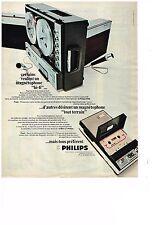 PUBLICITE  1968   PHILIPS   magnétophone  hi-fi