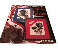 American Prairies Skies Eagle Buffalo cross stitch pattern Puckerbrush Patriotic
