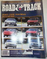 Road & Track Magazine Chevrolet Camaro & Mercury Capri RS April 1983 032515R