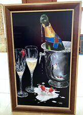 """Michael Godard """"Champagne Tango"""" Sold Out Ltd Edition Giclee Signed 196/250 Love"""