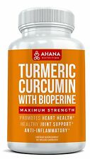 Maximum Strength Turmeric Curcumin Capsules With Bioperine Black Pepper