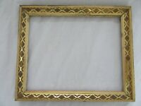 "Antique Fits 8 X 10""  Lemon Gold Gilt Picture Frame Stencil Wood Gesso Fine Art"
