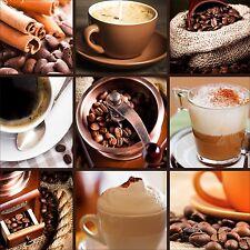 QUADRO ASTRATTO MODERNO IN SU VETRO TEMPERATO 50x50CM CAPPUCINO COLAZIONE CAFFE