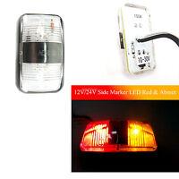 1pcs 12V 24V ámbar rojo Car super brillante LED lateral del camión lámparas
