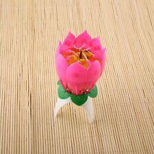 Amazing Romantic Musical Lotus Birthday Candle Birthday Candle new