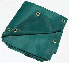 12 X 20 GREEN MESH SCREEN SHADE HAULING TARP W/ GROMMETS, (5$ OFF 2 OR MORE)