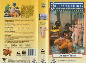 ABC For Kids JOHNSON & FRIENDS Dinosaur Tracks = 6 Episodes * VHS Video Tape