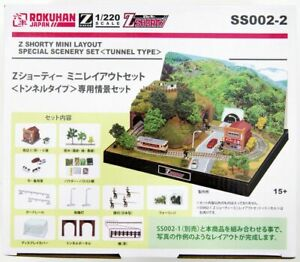 Rokuhan SS002-2 Z Shorty Mini Layout Set Exclusive Scene Set Tunnel Type Z Scale