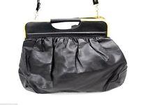 Vintage Purse Lot Black Lisa Loren Dofan France Large Leather Bags 2