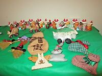 Lot 12 CAT Christmas Ornaments/ Decorations/ Kurt Adler, Metal, Handmade Vintage