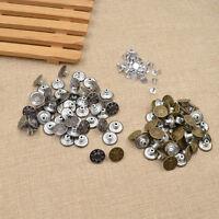 50 Antique Bronze 17mm Button Hammer On Denim Jeans Tack Star Buttons
