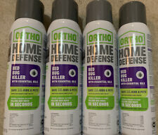 4 Pack Ortho Home Defense Bed Bug Killer with Essential Oils 14 oz. each