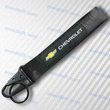 CHEVROLET CHEVY Black Keychain Metal key Ring Hook Strap Lanyard Nylon Universal