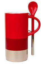 Starbucks Verismo Mug 8 fl oz with Spoon Red Silver (11042076)