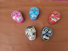 Sugar Skull Jewelry Box  Clay  Hand Painted