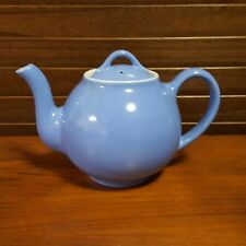 Vintage Hall Teapot with Lid  Light Blue over White Nice Pre-Owned Condition