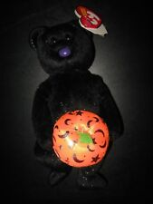 TY HAUNTING the HALLOWEEN BEAR BEANIE BABY MINT with  NEAR MINT TAGS  0010:N-3