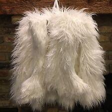 3pc Nicole Miller Mongolian Lamb Faux Fur Christmas Tree Skirt 2 Stocking Set