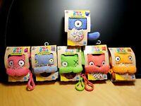 Ugly Dolls To-Go Lot of 6 Mini Plush Clip Set - Moxy, Ox, Bat, Dog, Babo & Wage!