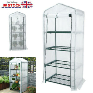 4 Tier Mini Greenhouse Thickening - Outdoor Garden Grow House Plants Vegetables