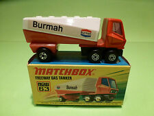 MATCHBOX LESNEY 63 FREEWAY GAS TANKER - RARE SELTEN - MINT CONDITION IN BOX