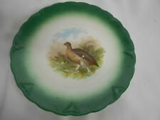 vintage Regout & Co Maastricht Holland quail / bird plate hunting decor