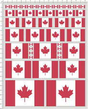Self Adhesive Sticker decal CANADA flag for different scales model kits 20431