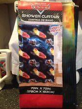 "Disney Pixar Cars Lightning McQueen Vinyl Shower Curtain 70""x 72"" Brand New Rare"
