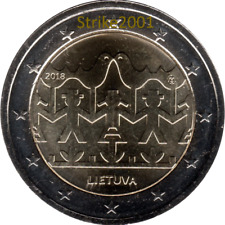 NEW !!! 2 EURO COMMEMORATIVO LITUANIA 2018 Festival Danza e Canzone Lituana