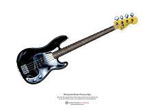 Phil Lynott's Fender P Bass Arte Cartel Tamaño A3