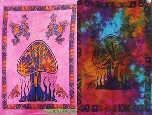 2 piece Mushroom Tapestry Bohomen Indian Wall Hanging Wholesale (77cmX102cm)PM-2